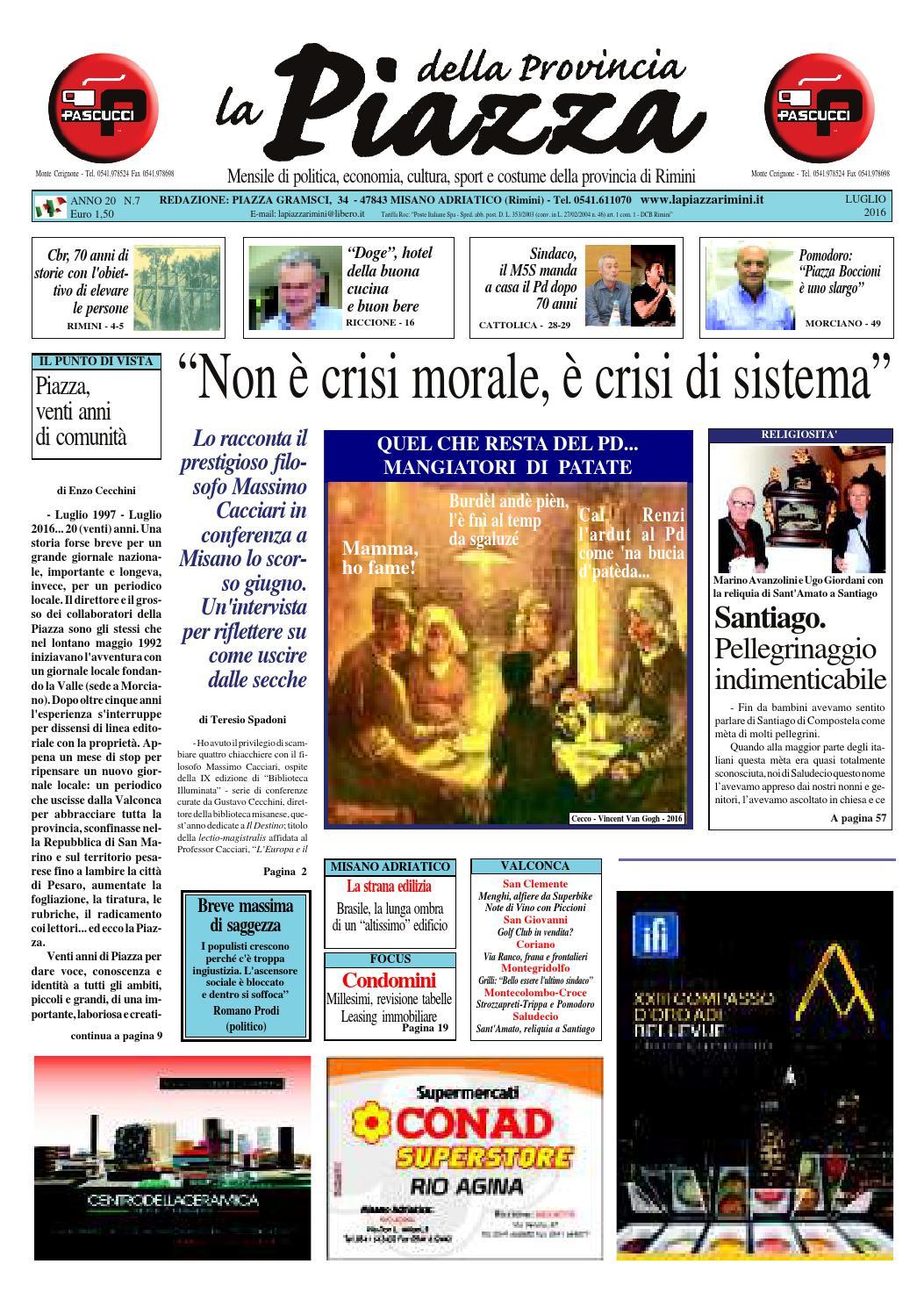 af079b481c07 Luglio 2016 - La Piazza Rimini by La Piazza della Provincia - issuu