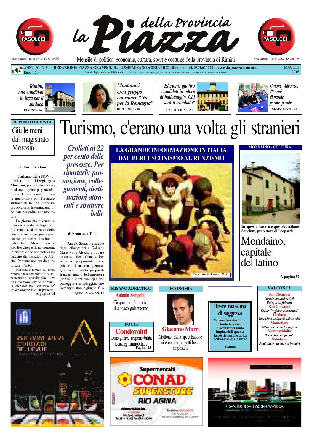 Maggio 2016 - La Piazza Rimini by La Piazza della Provincia - issuu 2e21365269e