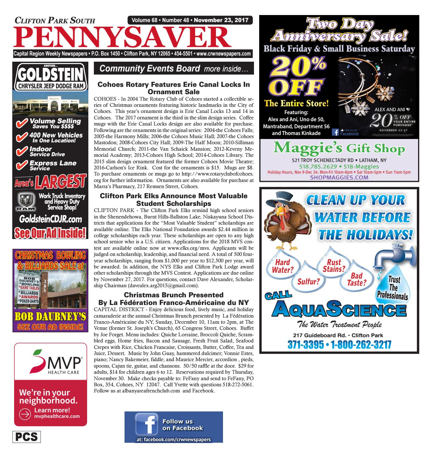 Clifton Park South Pennysaver 112317 by Capital Region Weekly ...