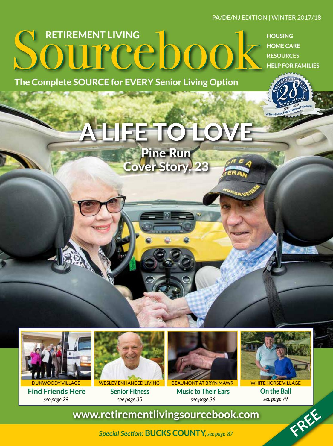 Guide to Retirement Living Sourcebook Delaware Valley Edition Winter  2017-2018 by Retirement Living Sourcebook - issuu