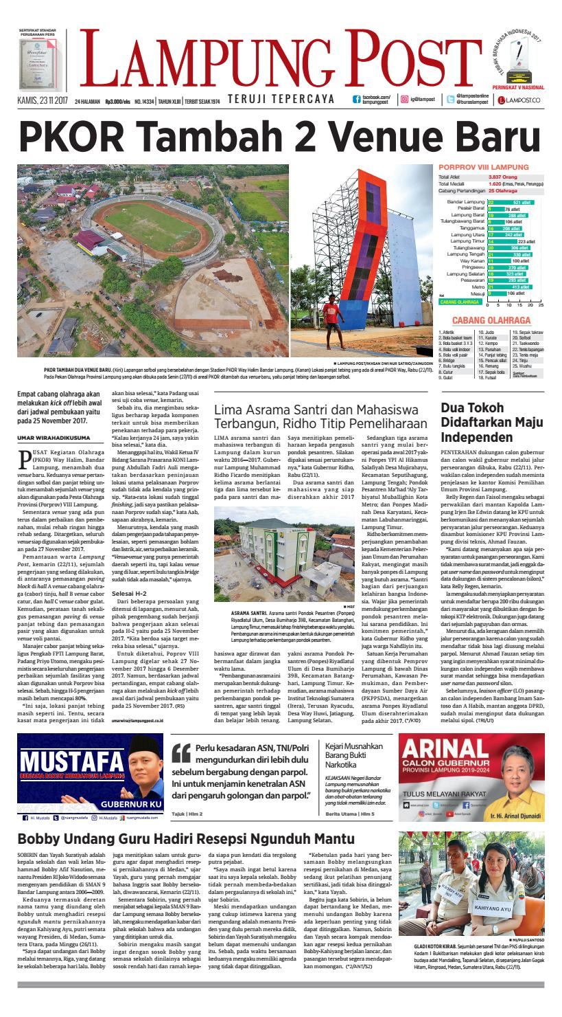 Lampung Post Kamis 23 November 2017 By Lampung Post Issuu