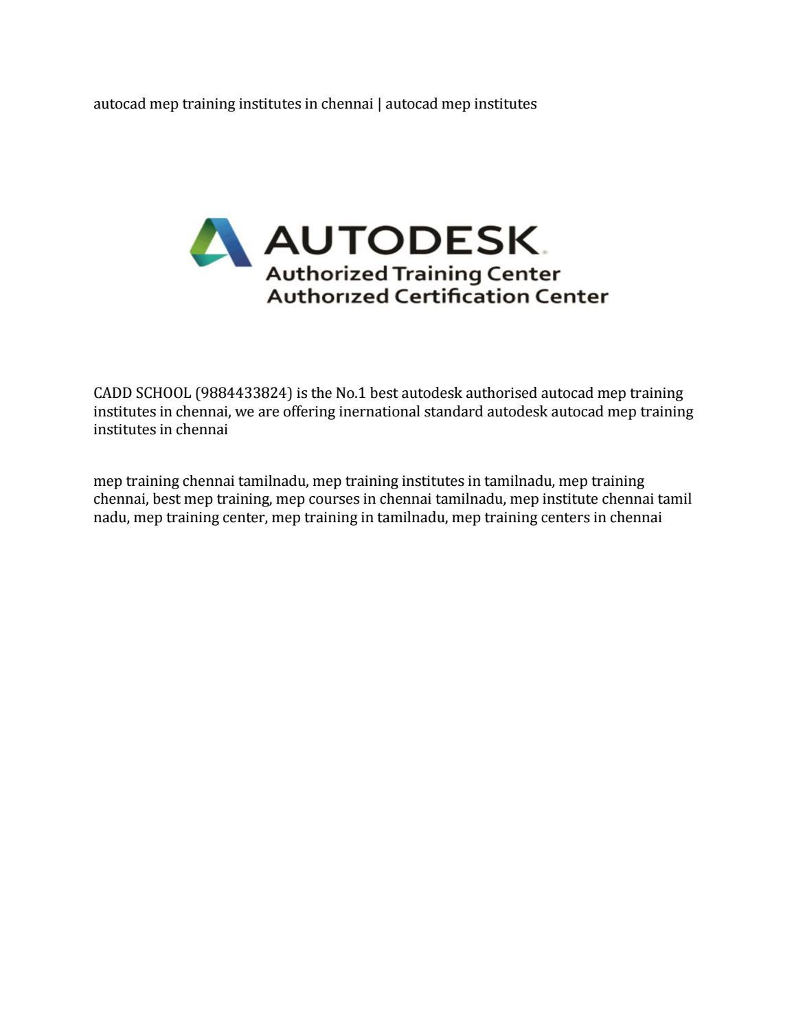 autocad mep training institutes in chennai | autocad mep institutes