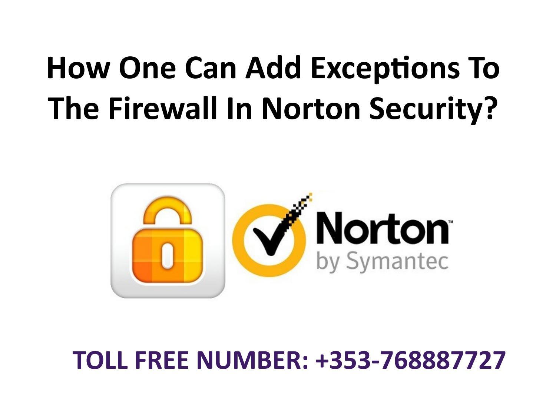 norton add exception to firewall