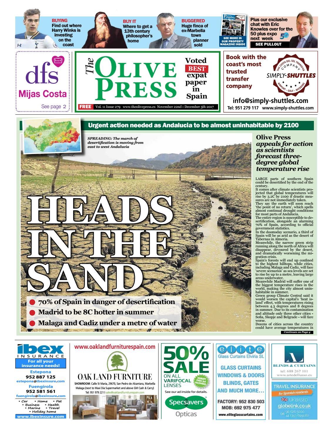 Olive Press Newspaper Issue 279 By Olive Press Newspaper Spain  # Muebles Leaders Tarragona
