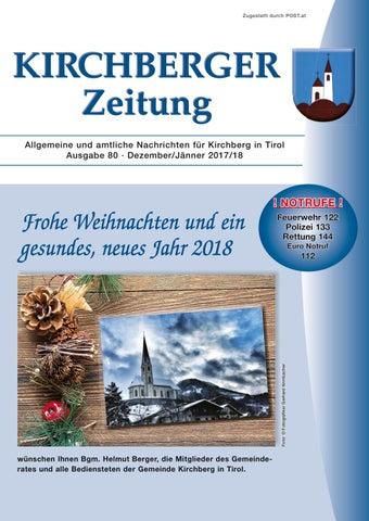 Kirchberger Zeitung 80 - Weihnachten by kitzanzeiger - issuu
