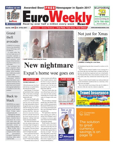 2c04bed7177e4 Euro Weekly News - Axarquia 23 – 29 November 2017 Issue 1690 by Euro ...