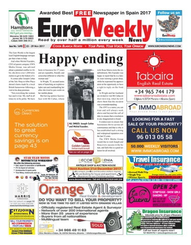 be7d21f41 Euro Weekly News - Costa Blanca North 23 – 29 November 2017 Issue ...