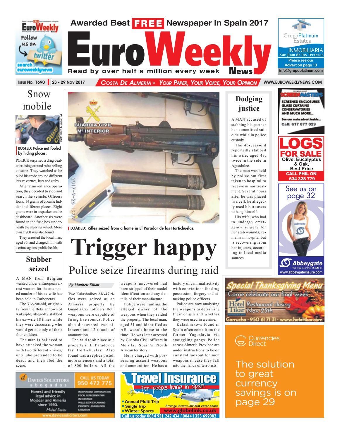 Euro Weekly News - Costa de Almeria 23 – 29 November 2017 Issue 1690 by  Euro Weekly News Media S.A. - issuu