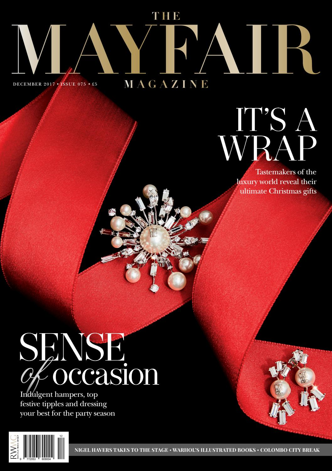 7211a8ec78 The Mayfair Magazine December 2017 by Runwild Media Group - issuu