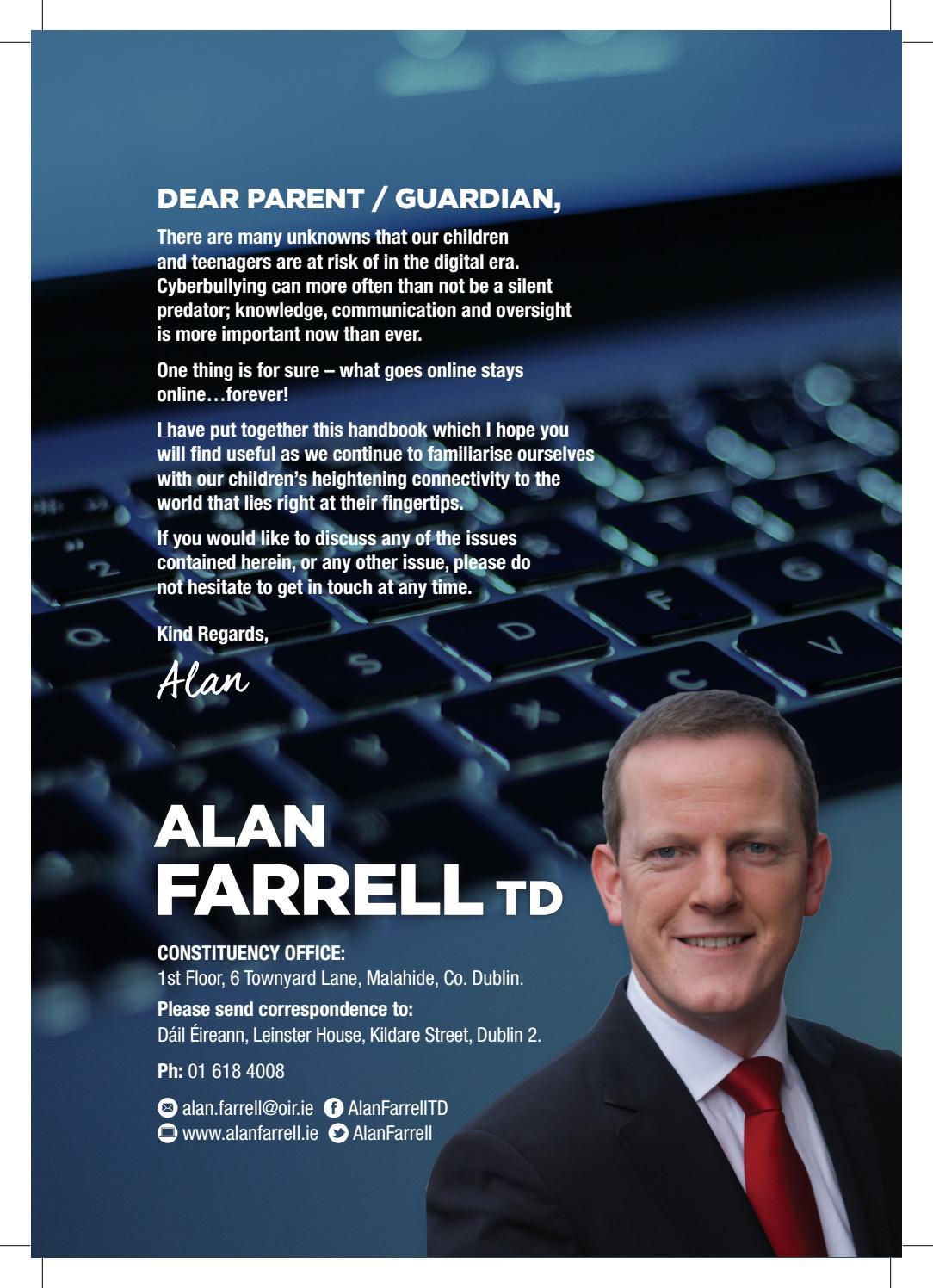 9e08ec546b2a Cyber Safety Booklet - Alan Farrell TD by Alan Farrell - issuu