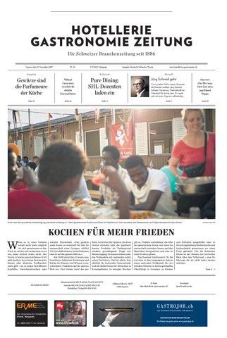 HG-Zeitung 33/2017 by Hotellerie_Gastronomie_Verlag - issuu
