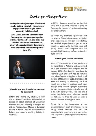 Interview with Julia Gaska by Expat in Denmark - issuu