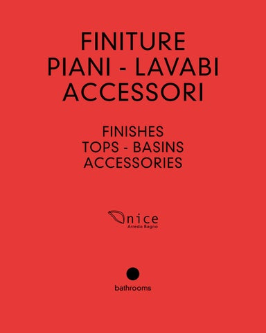 Nice Arredo Bagno Fontanafredda.Catalogo Finiture Piani Lavabi Accessori By Nice Arredo Bagno Srl