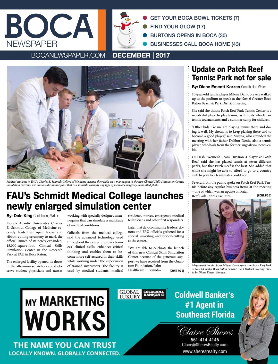 Boca Newspaper | December 2017 by Four Story Media Group - issuu on