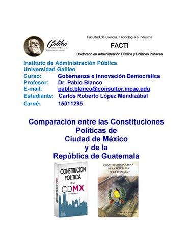 Comparación Constituciones Cdmx Y Guatemala By Carlos Lopez