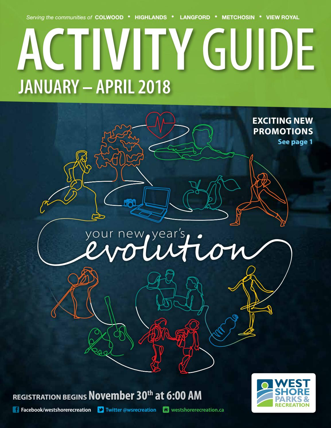 ecc771e84 Activity Guide January - April 2018 by West Shore Parks   Recreation - issuu