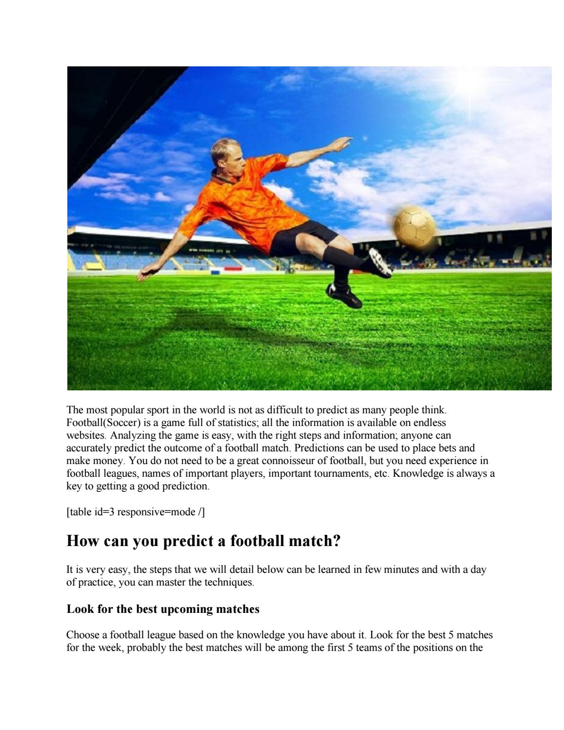 6 Easy Steps on How to Predict Football Matches Correctly