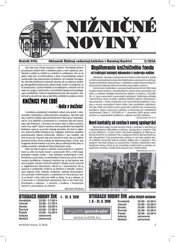 2e1d6406f817 Knižničné noviny 02 2016 by SVKBB - issuu