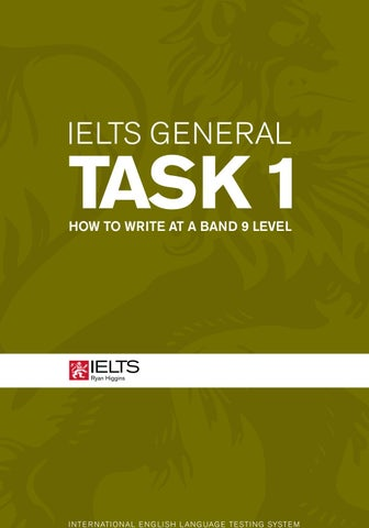 Ielts Writing General Task 1 How To Write At A Band 9 Level By Vận