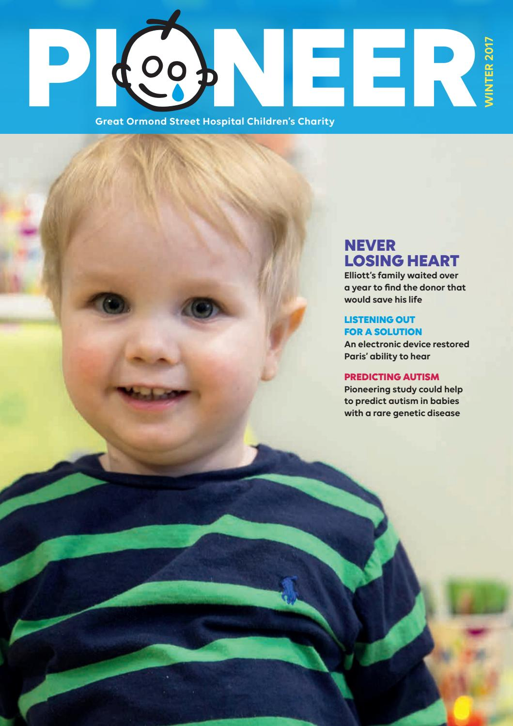 Simple Hearing Test May Predict Autism >> Pioneer Winter 2017 By Great Ormond Street Hospital Children S