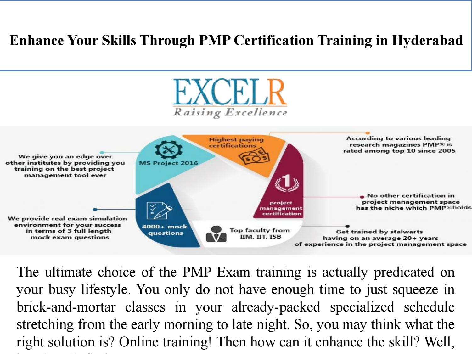Enhance Your Skills Through Pmp Certification Training In Hyderabad