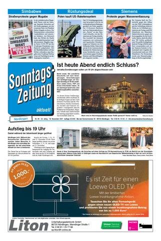 Sonntagszeitung Nördlingen Kw46 By Wochenzeitung Sonntagszeitung