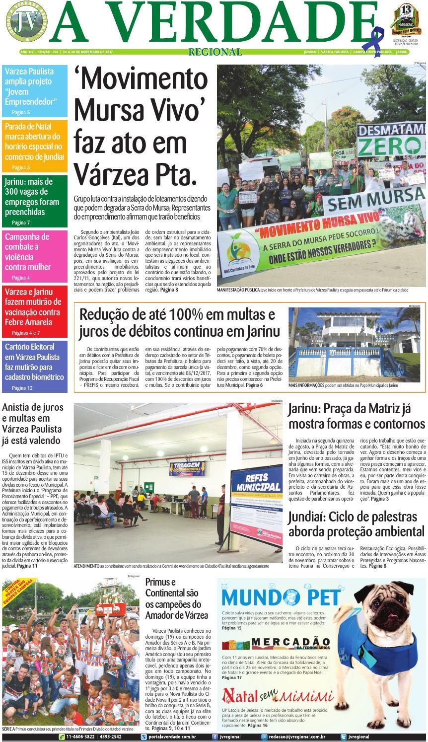 e84c328443 JV Regional ® - Edição 706 by Jornal A Verdade Regional - issuu