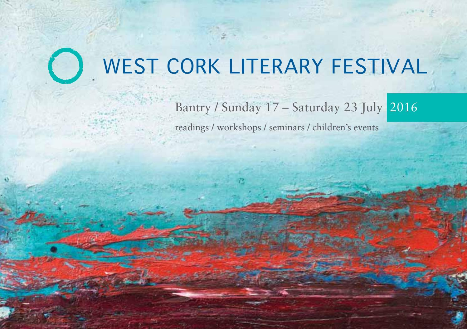 West Cork Literary Festival 2016 Brochure by West Cork Music