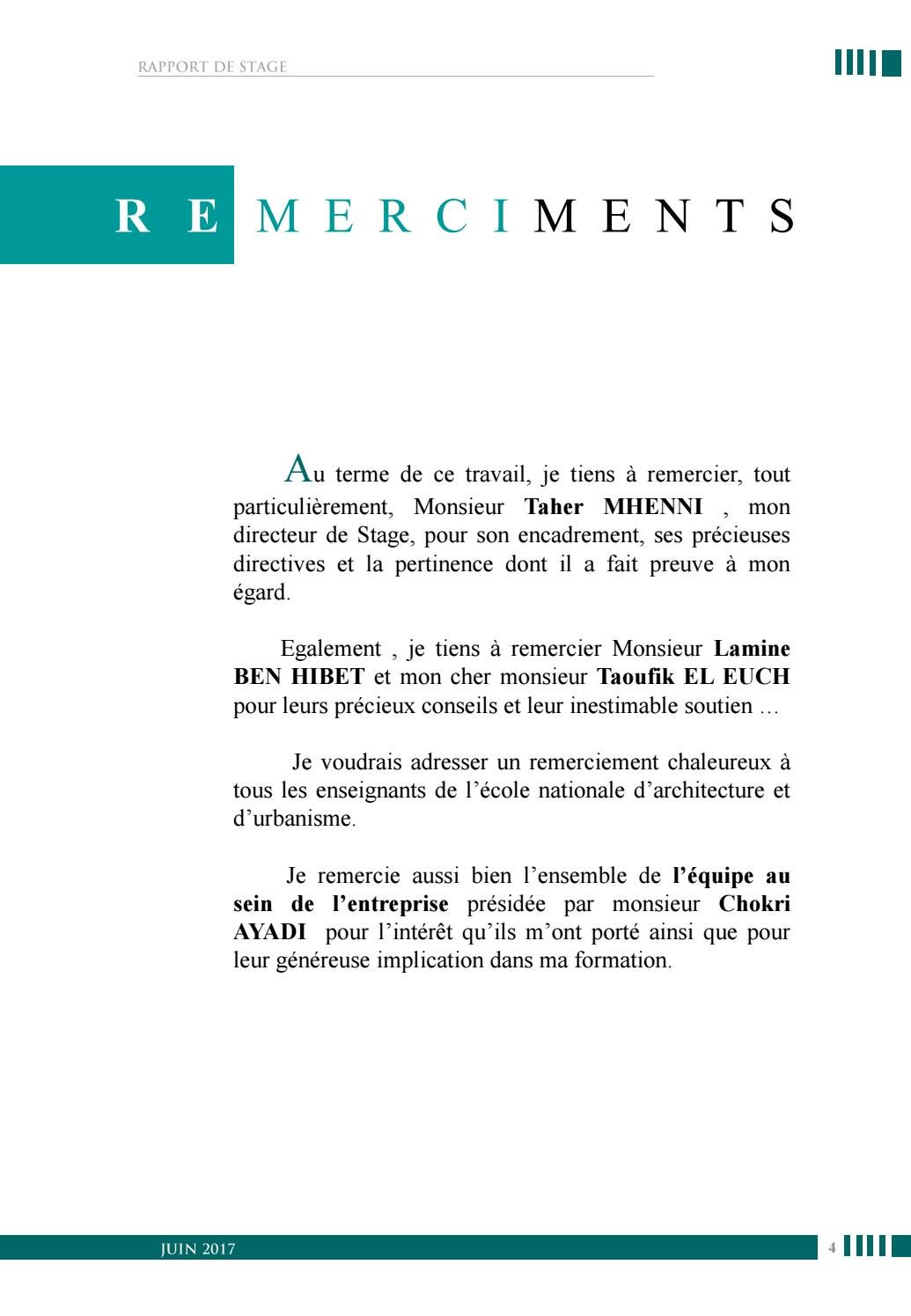 Rapport De Stage Professionnel Phase Chantier By