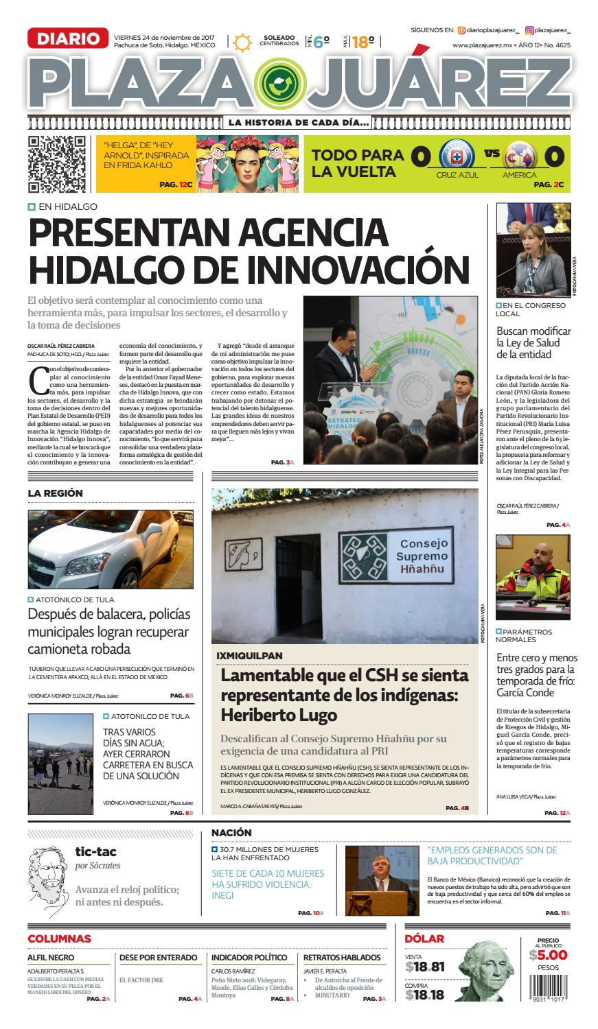 24 11 17 by Diario Plaza Juárez - issuu
