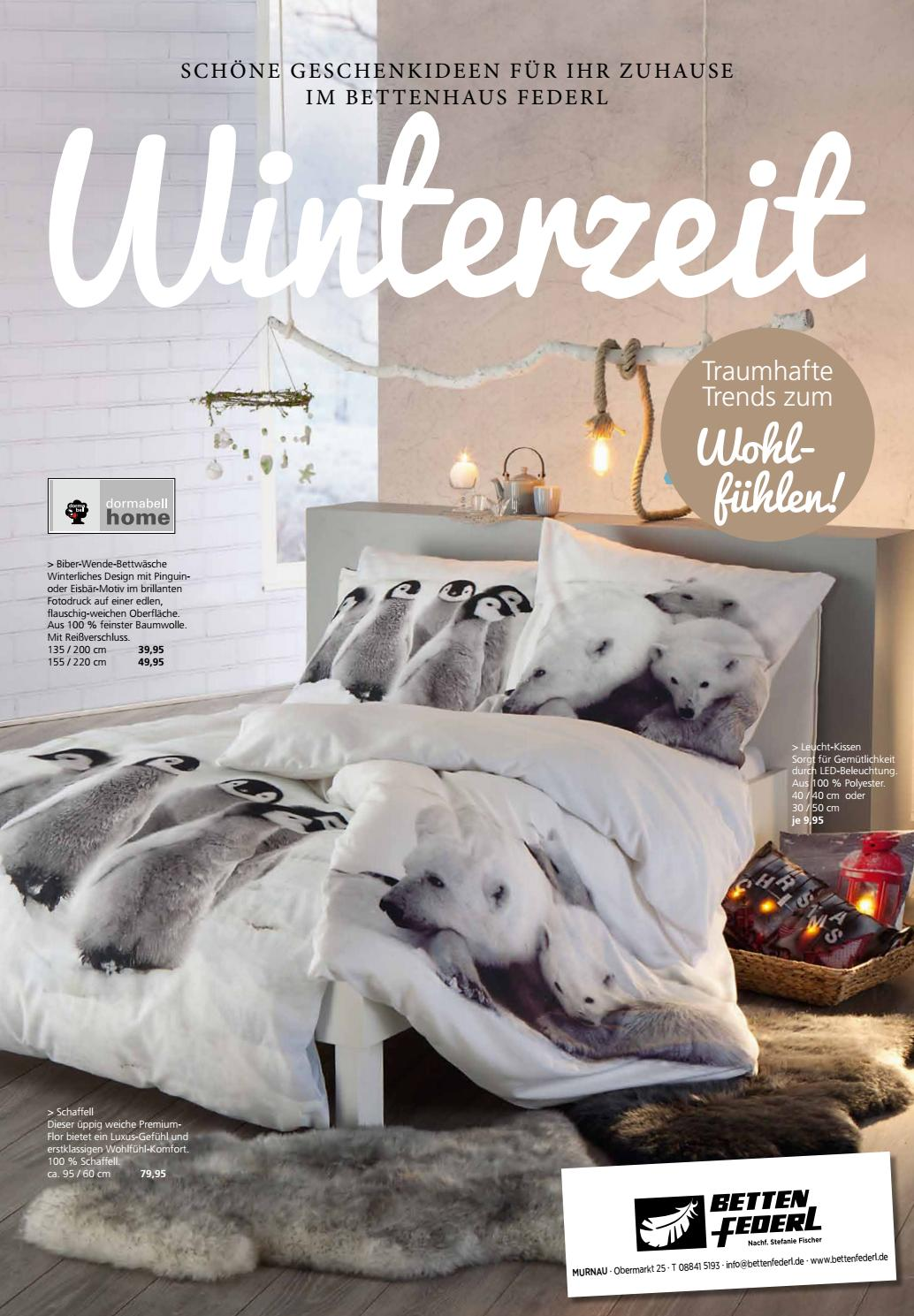 betten federl prospekt winterzeit 11 2017 by betten federl murnau am staffelsee issuu. Black Bedroom Furniture Sets. Home Design Ideas