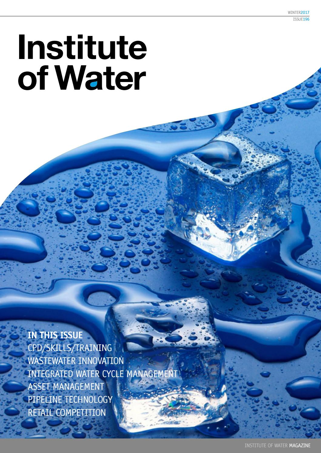Institute Of Water Magazine Winter 2017 By Issuu Drinking Alarm Circuit