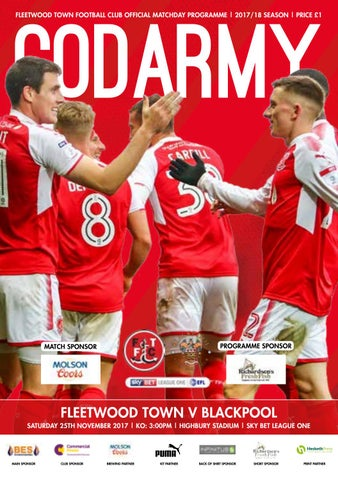 a7bc1cd50 Fleetwood Town v Blackpool | Saturday 25th October 2017 | Sky Bet League One