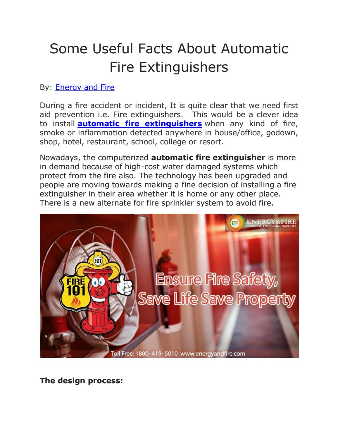 Some useful facts about automatic fire extinguishers by Energy and ...