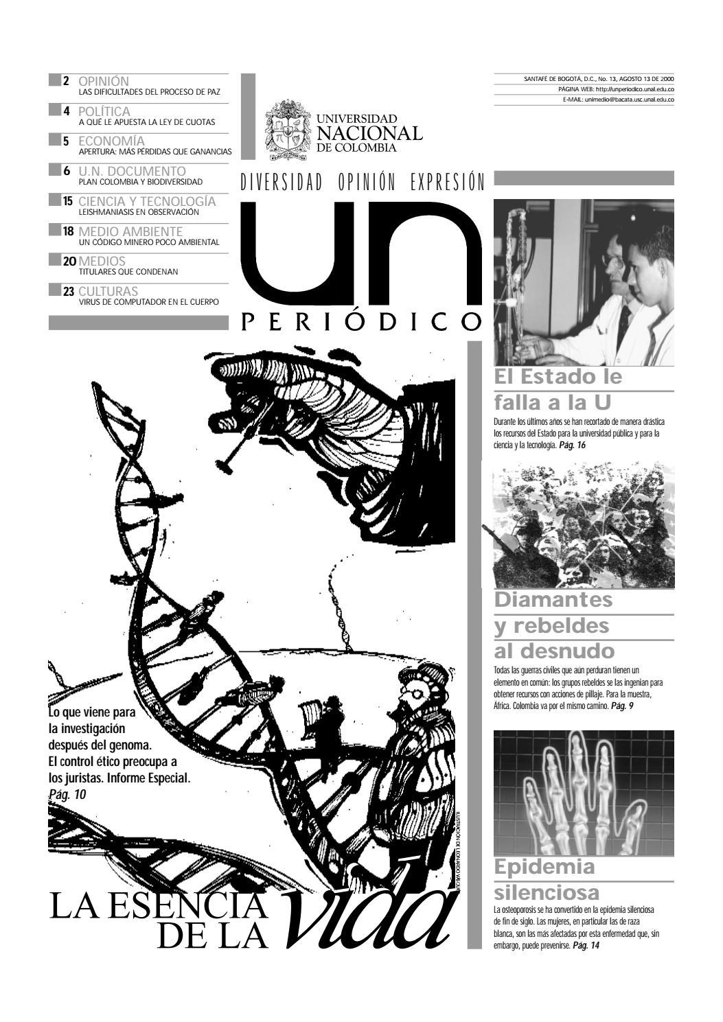 U.N. Periódico No. 13 by Unimedios - Universidad Nacional de ...