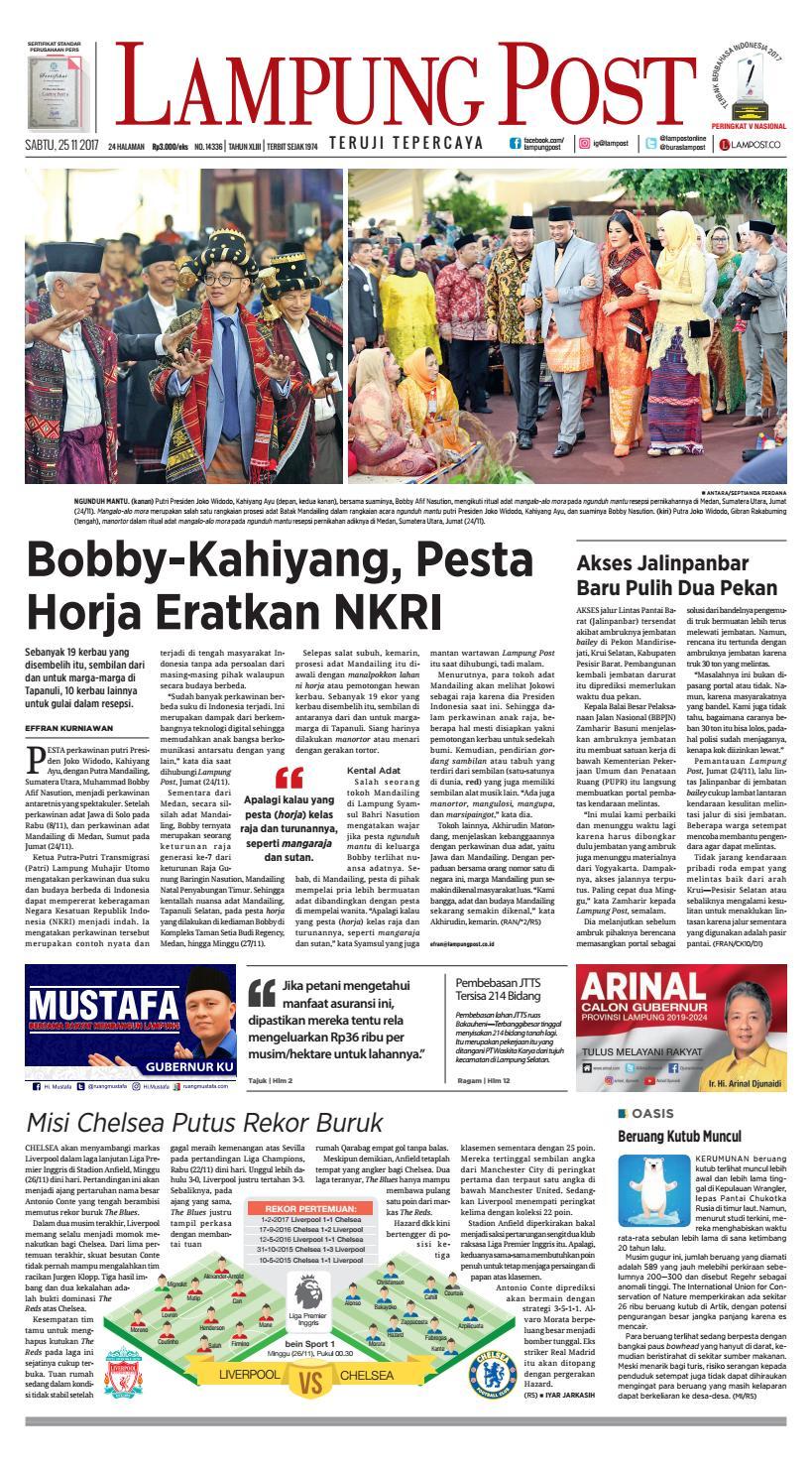 Lampung Post Sabtu 25 November 2017 By Lampung Post Issuu