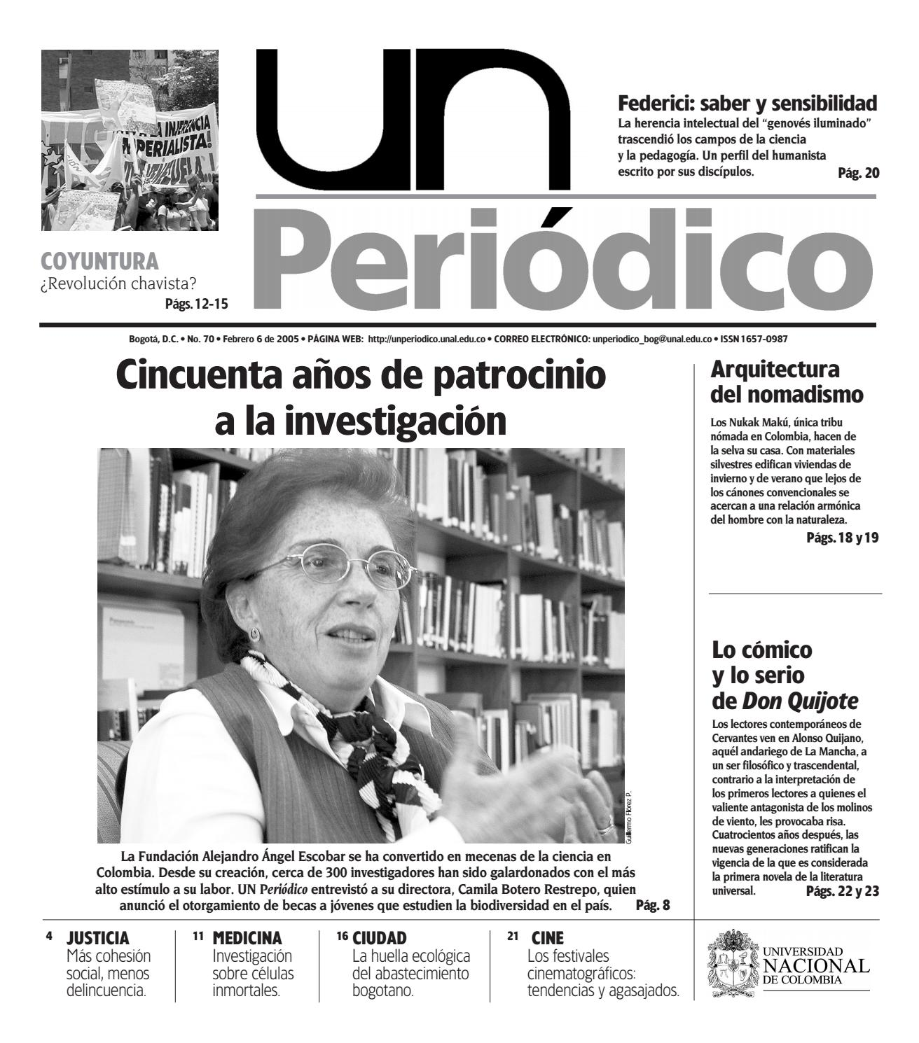 U.N. Periódico No. 70 by Unimedios - Universidad Nacional de Colombia -  issuu 23f40ceb27f2