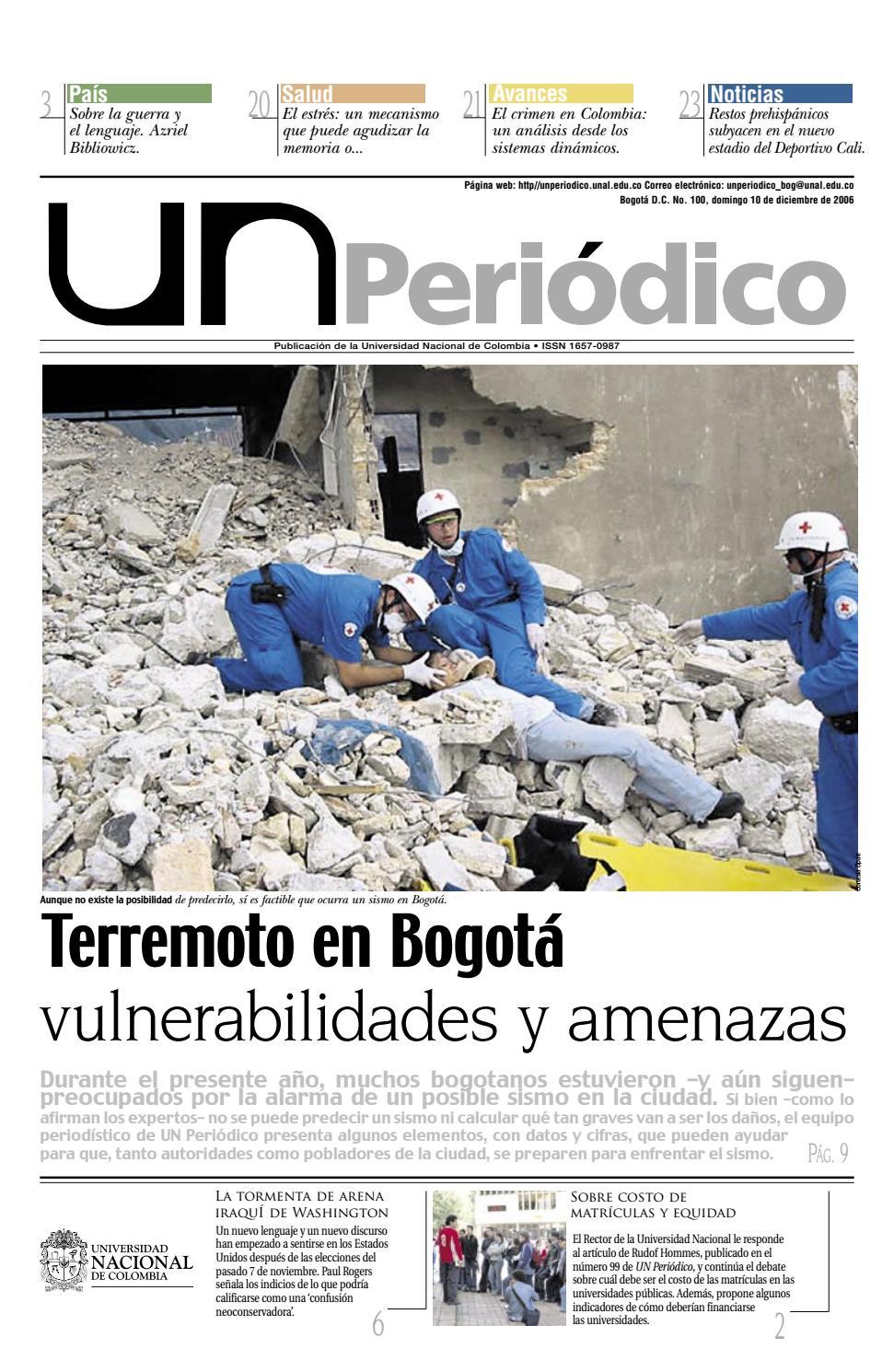 U.N. Periódico No. 100 by Unimedios - Universidad Nacional de ...