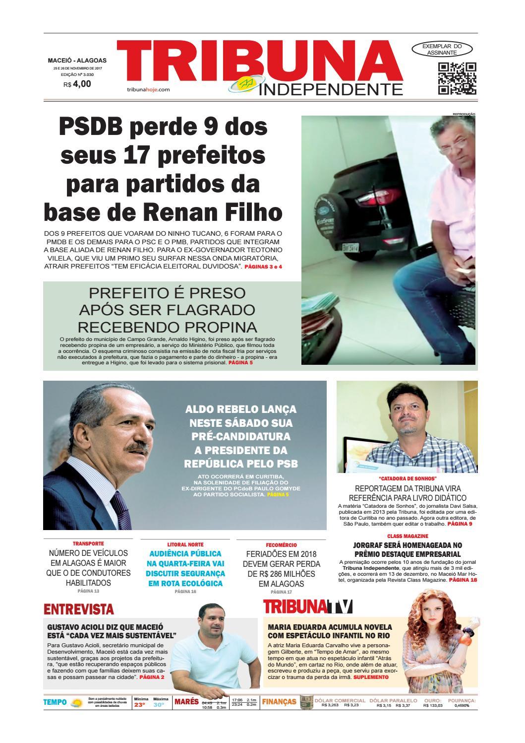Edição número 3030 - 25 e 26 de novembro de 2017 by Tribuna Hoje - issuu acd2897186