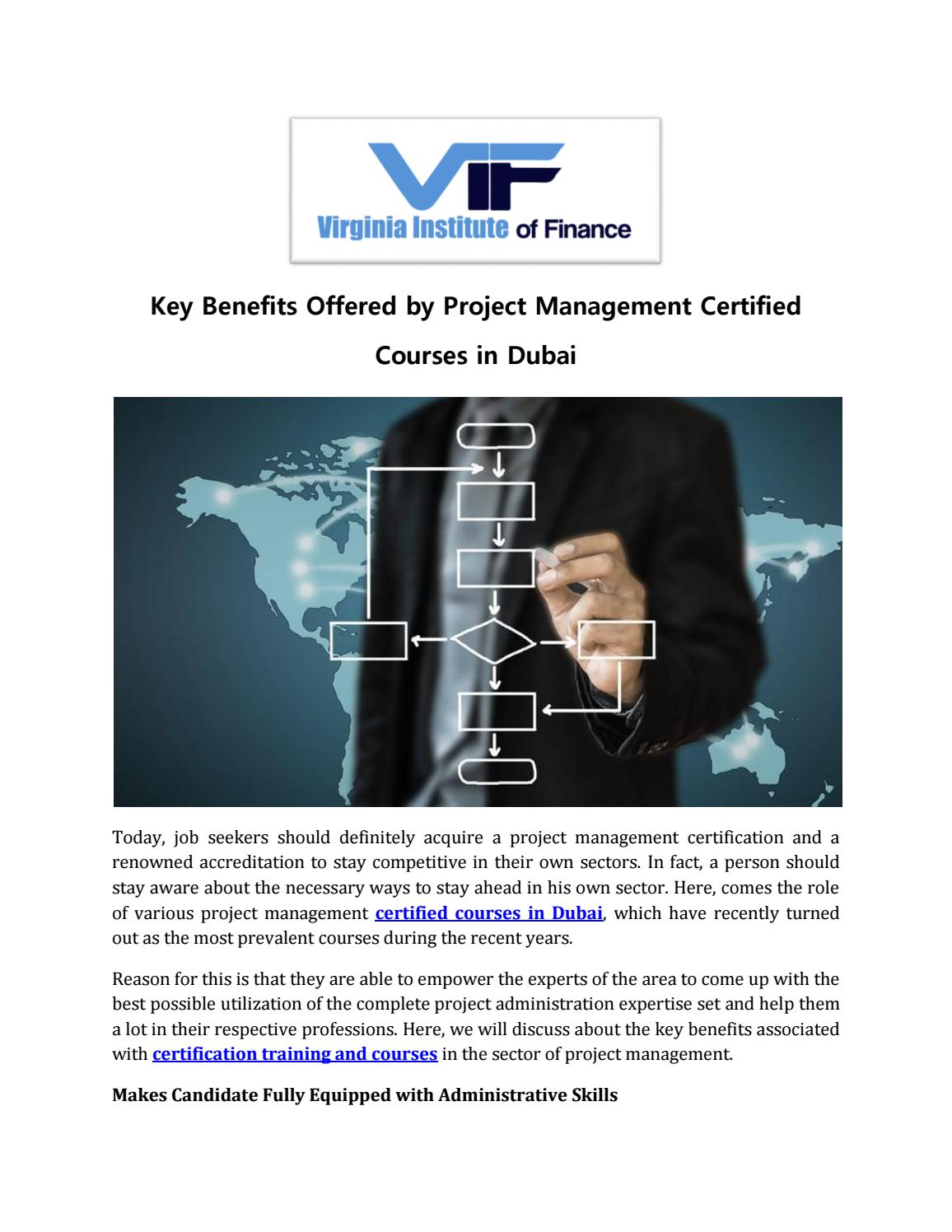Key Benefits Offered By Project Management Certified Courses In