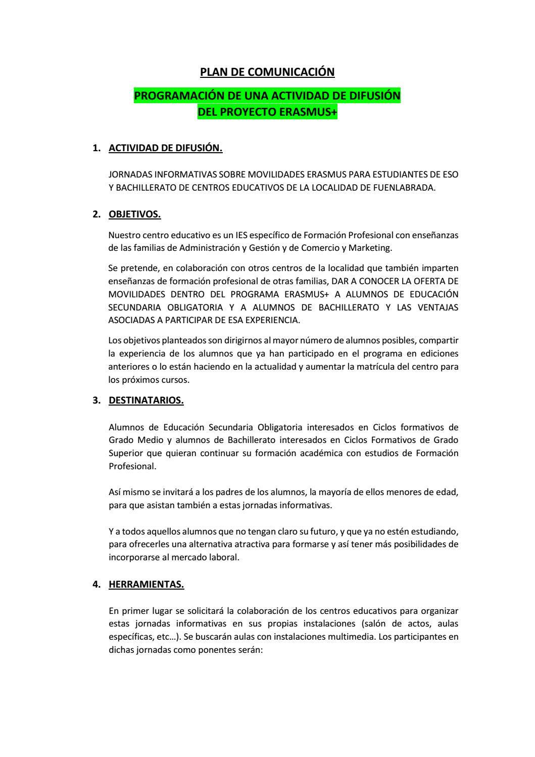 Difusión Proyecto Erasmus En Fuenlabrada By Keycle71 Issuu
