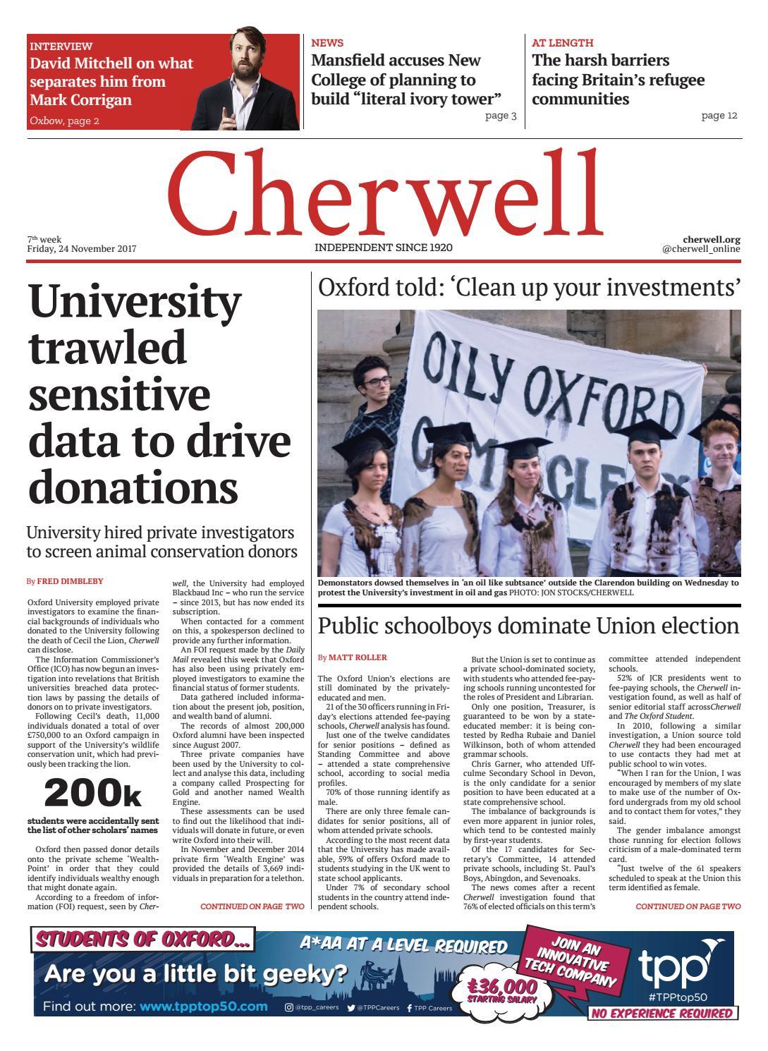 essay crisis cherwell