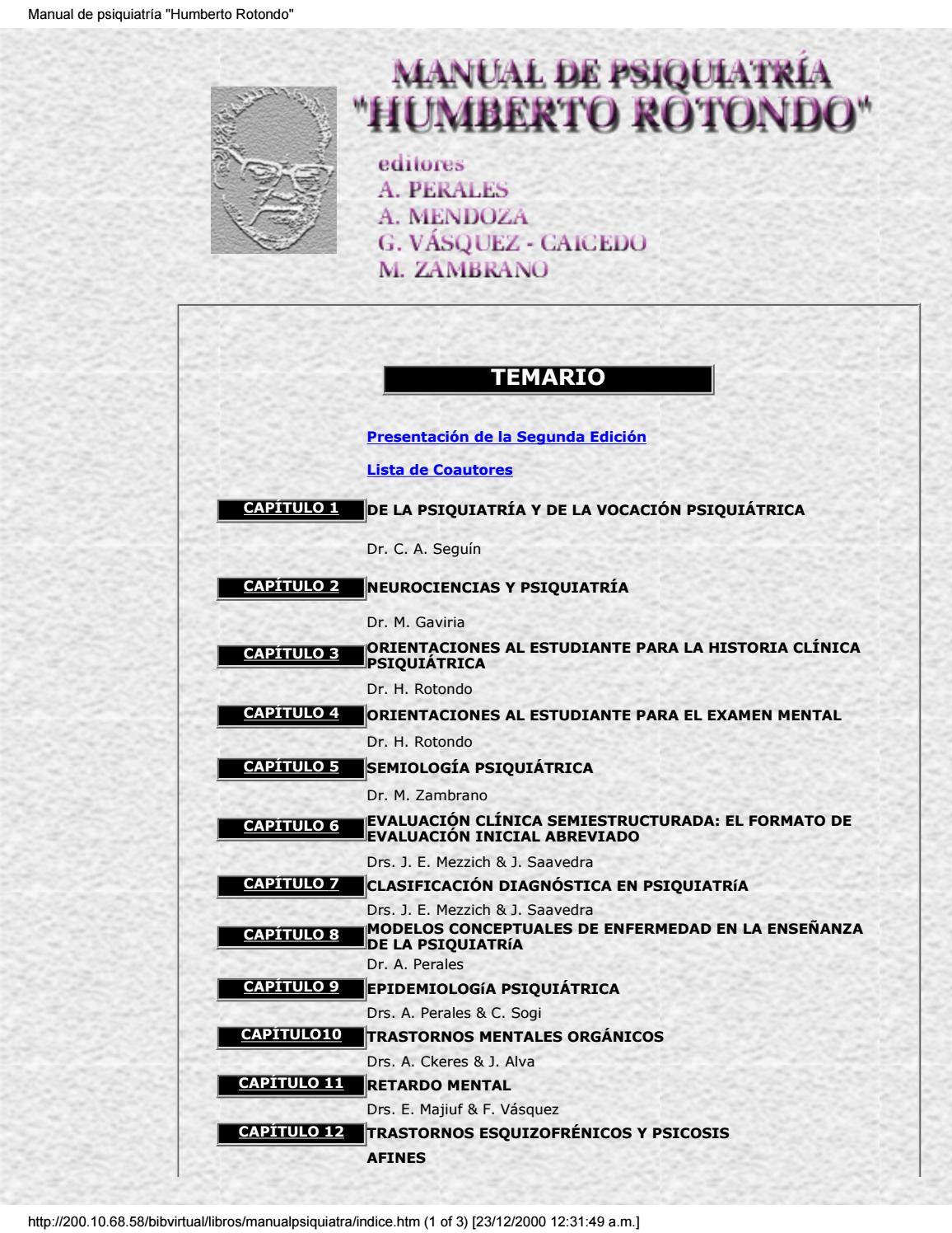 Manual de psiquiatria by Iris Sanchez - issuu