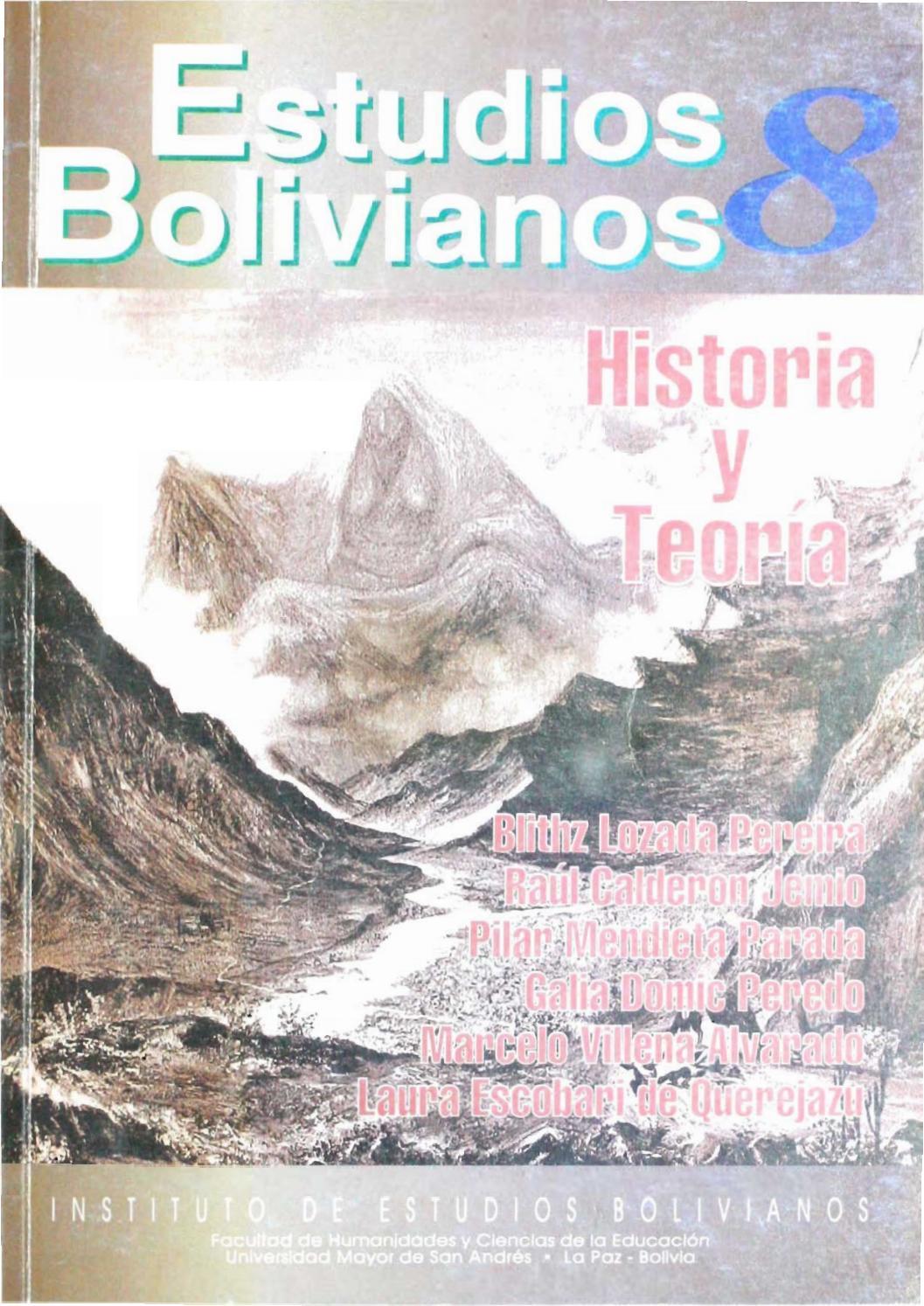 Estudios Bolivianos 008 by Postgrado Humanidades UMSA - issuu