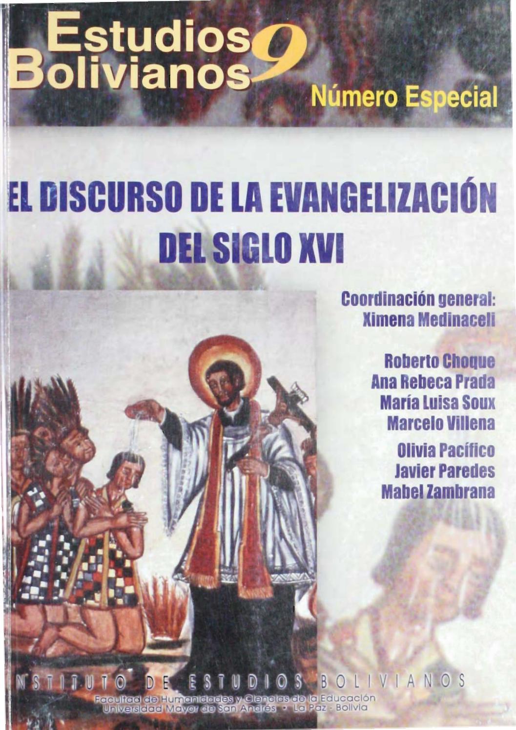 Estudios Bolivianos 009 by Postgrado Humanidades UMSA - issuu