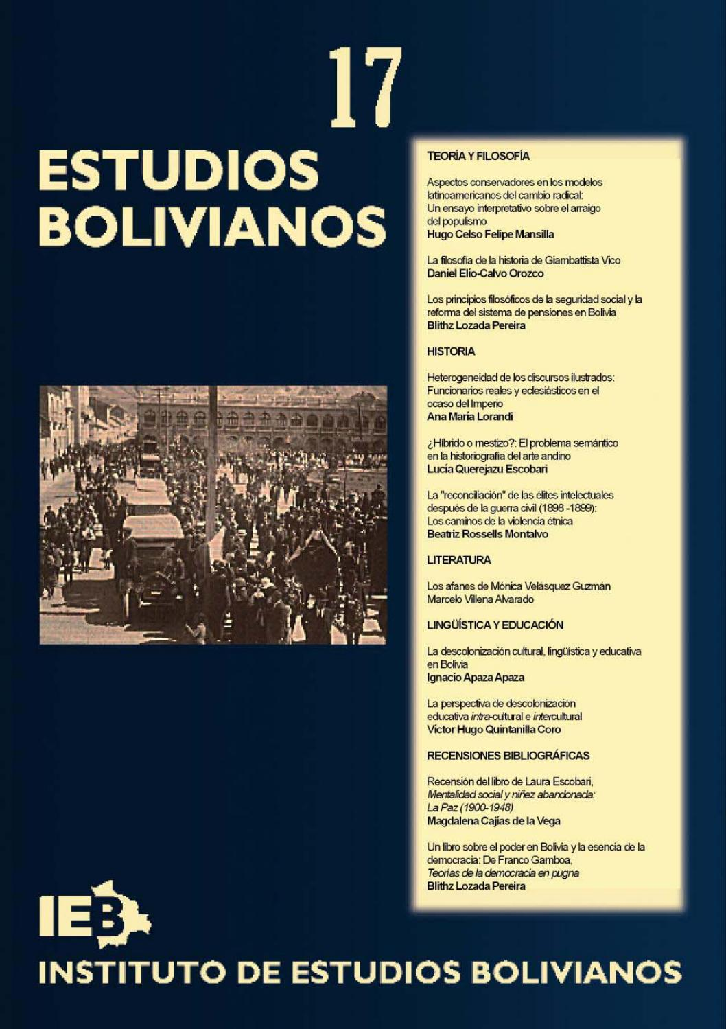 Estudios Bolivianos 017 by Postgrado Humanidades UMSA - issuu