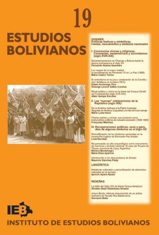 8c42575b9d5f3 Estudios Bolivianos 019 by Postgrado Humanidades UMSA - issuu