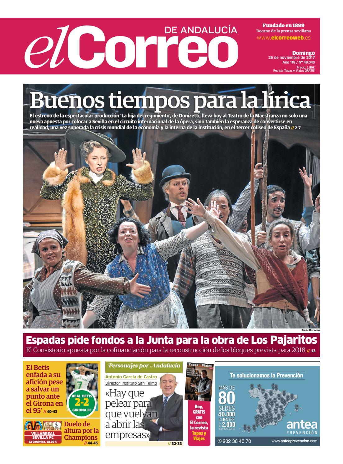 39fd348917301 26.11.2017 El Correo de Andalucía by EL CORREO DE ANDALUCÍA S.L. - issuu