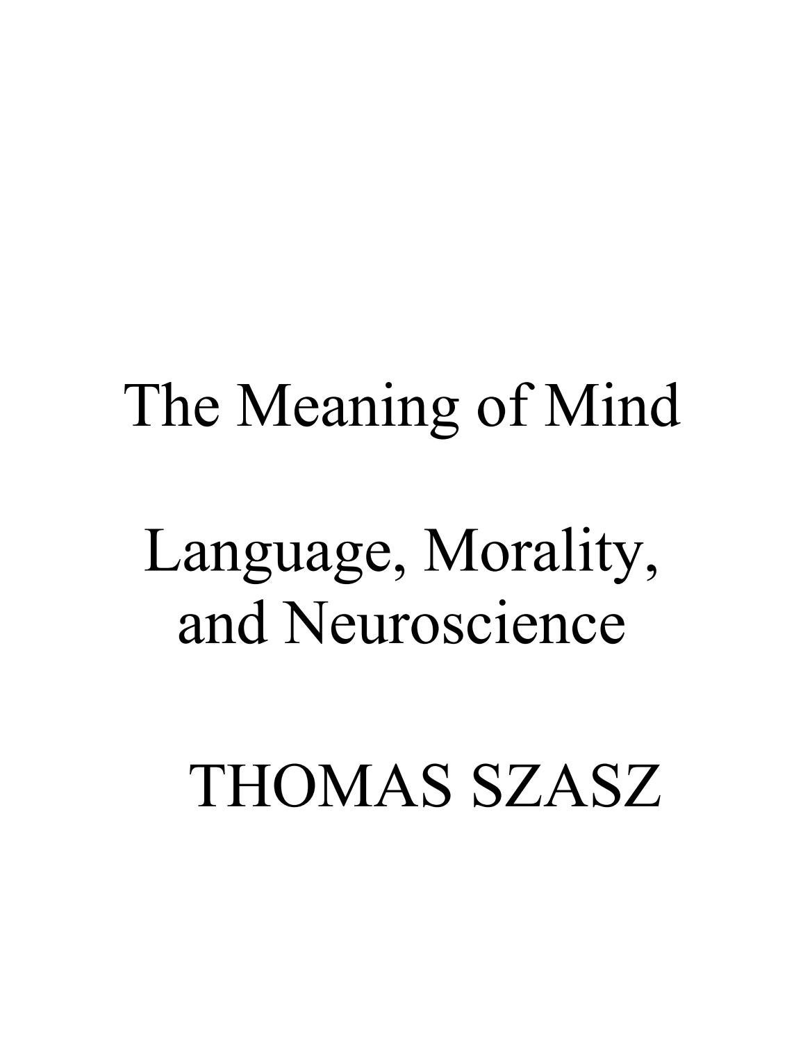 The Meaning Of Mind Thomas Szasz By Ario Issuu Passive Tone Controls Explained Ebass