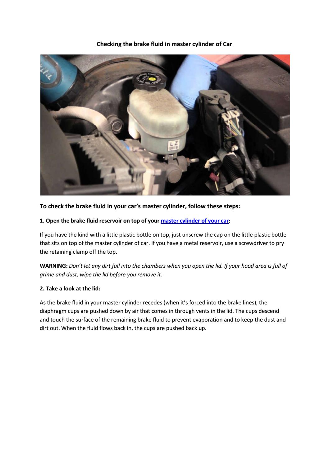 Partsavatar, CA - How do i check the brake system master cylinder of my car  by Partsavatar tr - issuu